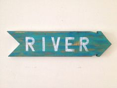 River  Rustic Home Decor Wall Hanging Sign made by shoponelove, $45.00