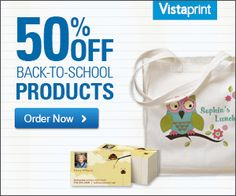 Save Up To 50% On Back To School Supplies At Vistaprint!