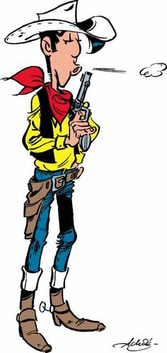 Lucky Luke (by Achdé) Looney Tunes Characters, Looney Tunes Cartoons, Funny Cartoons, Funny Comics, Fictional Characters, Cartoon Movies, Cartoon Art, Heros Film, Bd Lucky Luke