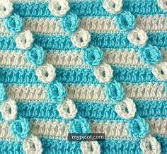 Crochet Manta Florecitas
