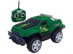 Carrinho de Controle Remoto Os Vingadores Hulk - 7 Funções Mimo