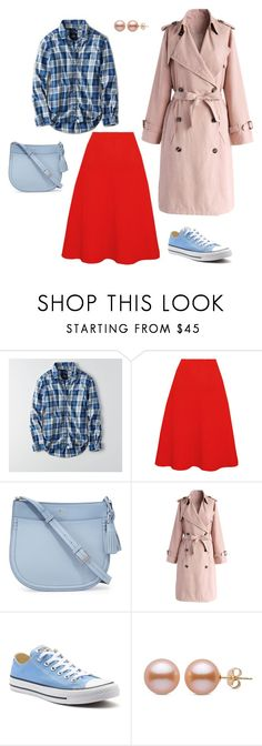 """""""Romantic/Country/Sport/Military"""" by eshumakher on Polyvore featuring American Eagle Outfitters, Victoria Beckham, Kate Spade, Chicwish, Converse and country"""