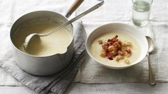 Celeriac is a great winter vegetable and it's put to wonderful use in James Martin's creamy soup. Serve with crispy pancetta and croûtons for a touch of luxury.
