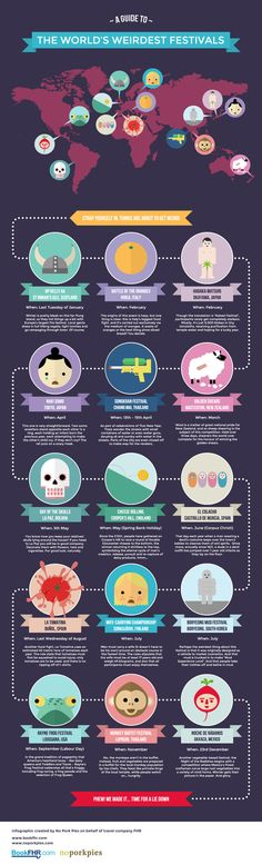 (via The World's Weirdest Festivals [infographic] | BookFHR.com)