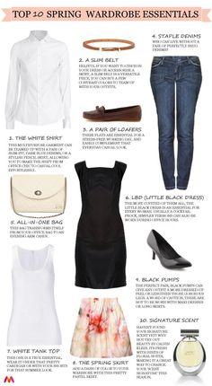 top ten wardrobe essentials