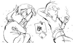 """i got a request to draw edd and eddy high and frisky with ed as 3rd wheel this is what a """"third wheel"""" situation is, by the way. ed isn't always a """"3rd wheel"""" just because edd and eddy have a relationship. a third wheel situation is when one person..."""