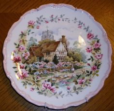 Royal Albert Summer Cottage Garden Collection Plate 1984 With Wall Hanger in Pottery, Glass, Pottery, Porcelain, Royal Albert | eBay