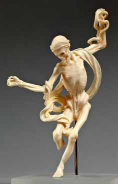 Dancing Death, Southern Germany, 18th century, ivory http://storage.canalblog.com/87/87/119589/109893342_o.jpg