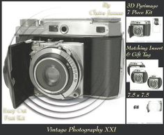Photography Vintage Camera 11 Insert Tag on Craftsuprint - Add To Basket!