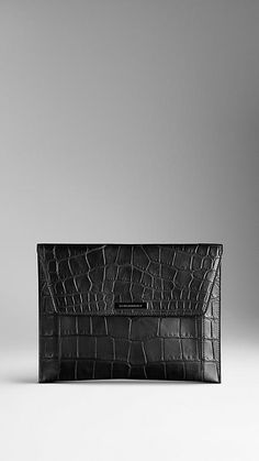 Alligator Leather Digital Case | Burberry