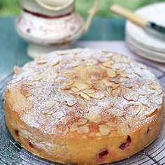 Gooseberry and Almond Cake (Waitrose) OK to sub wheat-free flour, or 1/2 weight coconut flour and double eggs ( reduce fat). Great with 300g raspberries instead of gooseberries. Add 1/4 tsp salt.
