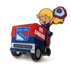 New York Rangers Mascot on Zamboni Lapel Pin