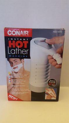 NEW Conair Instant Hot Lather Machine Shaving Cream Heater Warmer HLM10 Box Dmg #Conair