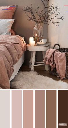 Earth Tone Colors For Bedroom Bedroom color scheme ideas will help you to add harmonious shades to your home which give variety and feelings of calm. From beautiful wall colors. - Mauve and brown color scheme for bedroom - Earth Tone Colors For Bedroom Bedroom Colour Schemes Neutral, Brown Color Schemes, Bedroom Wall Colors, Room Decor Bedroom, Living Room Decor, Cozy Bedroom, Bedroom Ideas, Bedroom Brown, Bedroom Furniture