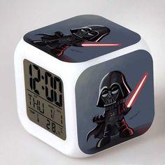 LED Alarm Clock Despertador Digital Star War Vader Figures infantile Stromtrooper Reloj Reveil Character Boy Girl Children Gift