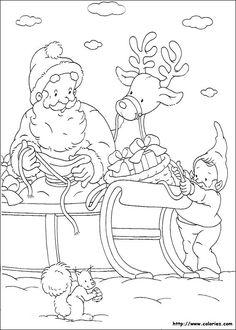 Chargement du traineau de Noël