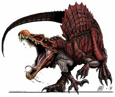 Cool drawing of Spinosaurus, who may most likely be the largest land predator.