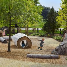 Chicago Botanic Garden: The Regenstein Learning Campus, designed by and Jacobs/Ryan Associates, in IL. Playground Design, Backyard Playground, Landscape Architecture, Landscape Design, Cool Playgrounds, Natural Playgrounds, Chicago Botanic Garden, Vegetable Garden Planning, Parking Design
