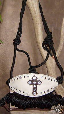 Rope Bronc Halter Gorgeous Cross Bling Nice GE Tack | eBay