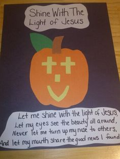 Bible Craft for Halloween