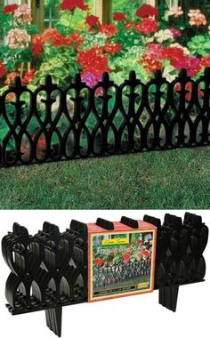 Other Garden Fencing 177033: Resin Victorian Garden Fence Edging   Ez  Install, 15