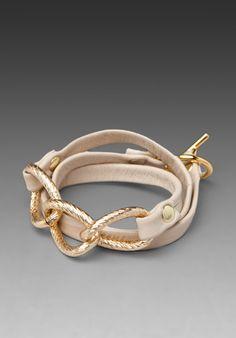 Chain wrap bracelet. I wish I knew how to make this myself!
