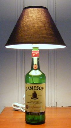 Jameson Irish Whiskey bottle lamp by LightHeaded on Etsy