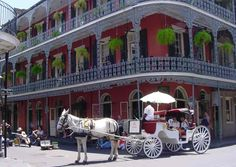 New Orleans became part of the United States with the Louisiana Purchase in 1803. This image is from the French Quarter. Description from cityescapeholidays.com. I searched for this on bing.com/images