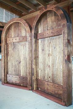 Beautifully hand carved, custom fabricated wood doors
