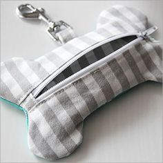 """Cute. Should be fun to make. PDF pattern sold by Boys and Bunting: """"Doggy Poop Bag Dispenser"""""""