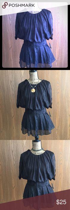 Blouse Dressy black silver streaked blouse Twenty-one Tops Tunics