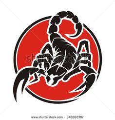 Scorpion circle red