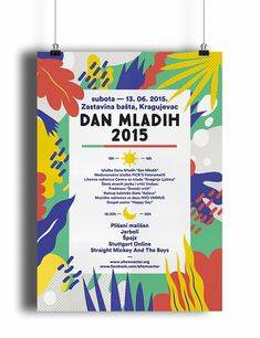 Matisse-inspired posters for Serbian Youth Day from designer Monika Lang.