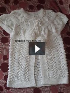How to Knit - Baby Cardigan with Almond Stitch Pattern Diy Crafts Knitting, Easy Knitting Patterns, Crochet Stitches Patterns, Knitting Designs, Stitch Patterns, Diy Crafts Dress, Diy Dress, Diy Crochet Scarf, Knitted Baby Cardigan