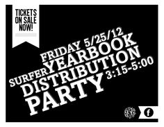 Yearbook Distribution Party Advertising