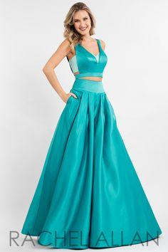 50f2492f289a Rachel Allen, Emerald Color, Matte Satin, Princess Prom Dresses, Full  Skirts,