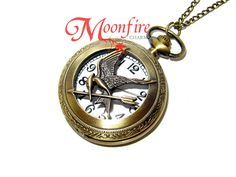 THE HUNGER GAMES Mockingjay Pocket Watch Necklace