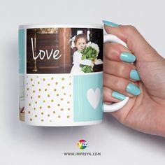 😍 Personaliza tu mug Tea And Books, Mug Printing, Custom Photo Mugs, Lets Celebrate, Mug Designs, Ganesha, Valentine Gifts, Ideas Para, Monogram