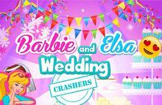 Barbie e Elsa vão entrar de penetra no casamento. Vamos ajudar para que elas fiquem elegantes para o casamento! Escolha vestidos estilosos, acessórios incríveis e penteados fabulosos.