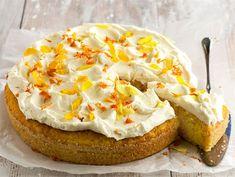 Helppo porkkanakakku | Valio Piece Of Cakes, Yams, Sweet And Salty, Something Sweet, Fall Recipes, Baked Potato, Camembert Cheese, Carrots, Cheesecake