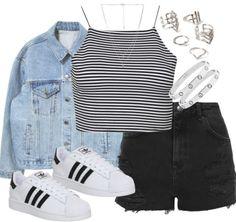 Everyday casual | spring 2015 | Grunge | Adidas superstars