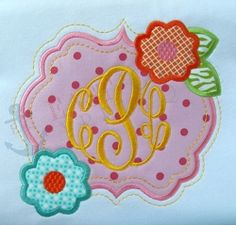 Flower Frame Applique - 4 Sizes! | What's New | Machine Embroidery Designs | SWAKembroidery.com East Coast Applique