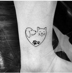 most beautiful pet memorial tattoos 1 Mini Tattoos, Dog Tattoos, Animal Tattoos, Body Art Tattoos, Small Tattoos, Tatoos, Future Tattoos, Tattoos For Guys, Kurt Tattoo
