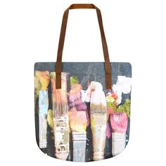 Wet Paint Tote Bag with Leather straps for TATE by Ella Doran
