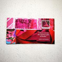 """""""An inspirational #postcard from Tina thanks to @ihannas #diypostcardswap"""""""