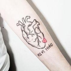52 Super Ideas for medical tattoo ideas anatomy Girly Tattoos, Time Tattoos, Body Art Tattoos, Sleeve Tattoos, Cool Tattoos, Tatoos, Herz Tattoo, Heart Tattoo Designs, Tattoo Feminina