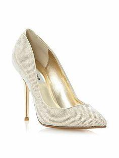 #Dune 'Ballroom' #Shoes in Metallic #Gold
