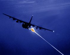 AC-130 spectre. Created during the Vietnam conflict. All started with 'I betcha we can fire that artillery piece from that plane'.
