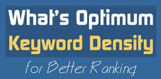 Keyword density in SEO is a measurement of the proportion of occurrences of a given keyword (or phrase) on a web page out of all of the phrases on a web page. Seo Techniques