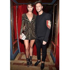 """#TaylorHill and #MichaelStephenShank at the #BalmainSS16 aftershow party #BALMAINARMY"" Photo taken by @balmainparis on Instagram, pinned via the InstaPin iOS App! http://www.instapinapp.com (10/01/2015)"